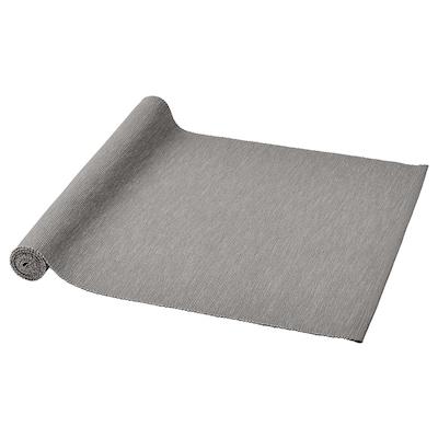MÄRIT Table-runner, grey, 35x130 cm