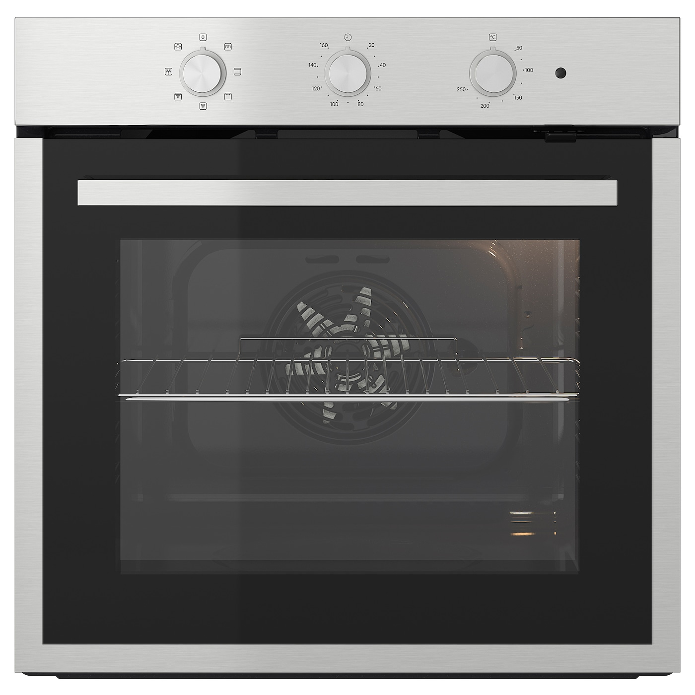 MATÄLSKARE Forced air oven stainless steel colour