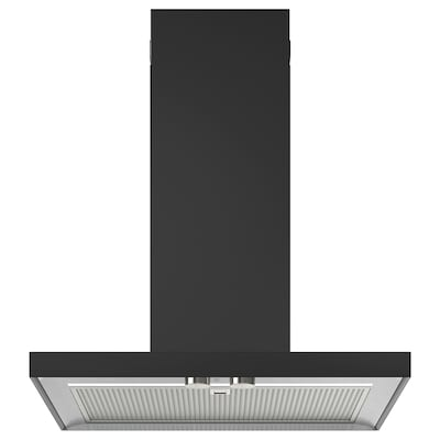 MATÄLSKARE Wall mounted extractor hood, black, 60 cm