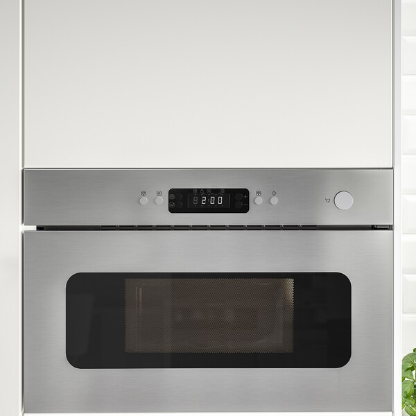 MATTRADITION Microwave oven stainless steel IKEA