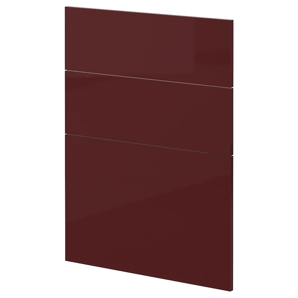 METOD 3 fronts for dishwasher Kallarp high-gloss/dark red-brown 60.0 cm 88.0 cm 80.0 cm 1.6 cm
