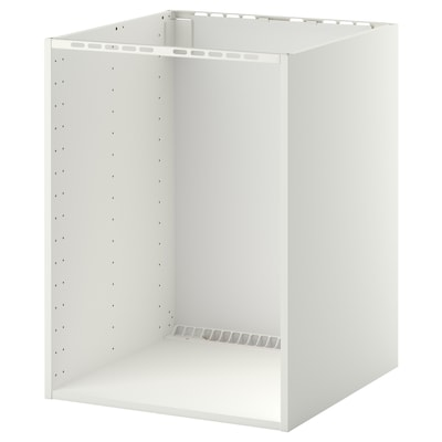 METOD Base cabinet for built-in oven/sink, white, 60x60x80 cm