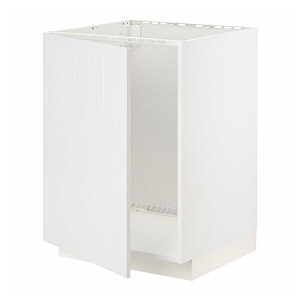 METOD Base cabinet for sink, white/Stensund white, 60x60 cm