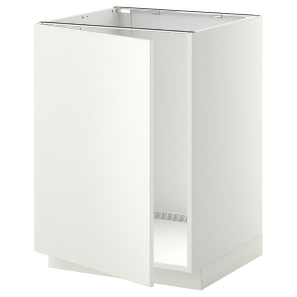 METOD base cabinet for sink white/Veddinge white 60.0 cm 61.6 cm 88.0 cm 60.0 cm 80.0 cm