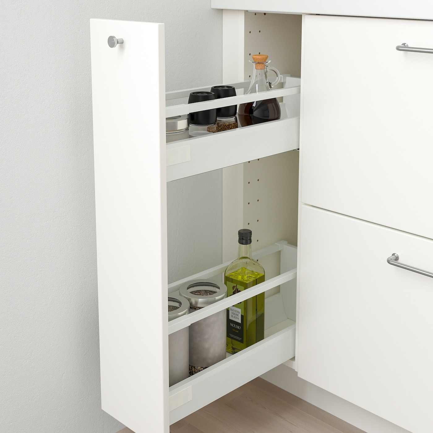 Metod Base Cabinet Pull Out Int Fittings White Veddinge White Ikea