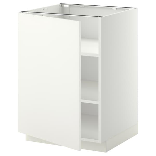 METOD base cabinet with shelves white/Häggeby white 60.0 cm 61.6 cm 88.0 cm 60.0 cm 80.0 cm