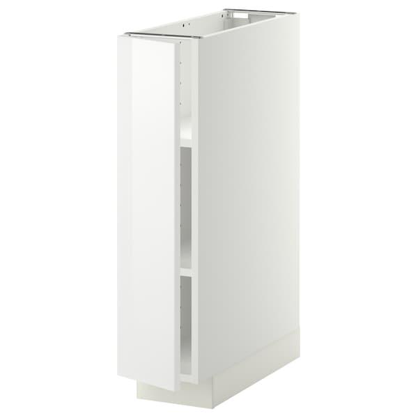 METOD Base cabinet with shelves, white/Ringhult white, 20x60 cm