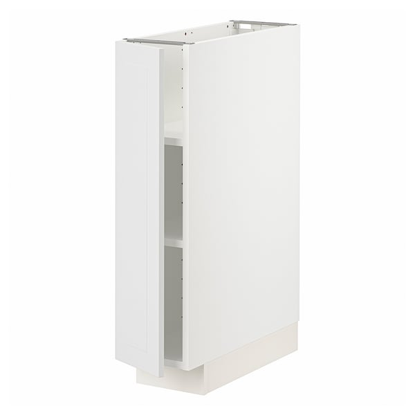 METOD Base cabinet with shelves, white/Stensund white, 20x60 cm
