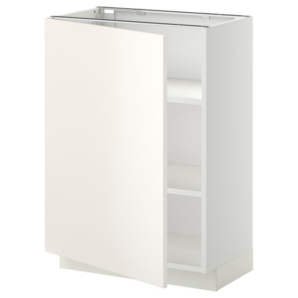 METOD base cabinet with shelves white/Veddinge white 60.0 cm 39.2 cm 88.0 cm 37.0 cm 80.0 cm
