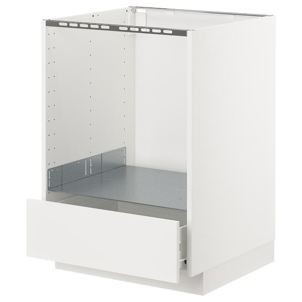 METOD / FÖRVARA base cabinet for oven with drawer white/Häggeby white 60.0 cm 61.6 cm 88.0 cm 60.0 cm 80.0 cm