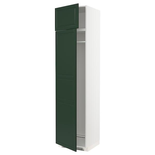 METOD Hi cab f fridge or freezer w 2 drs, white/Bodbyn dark green, 60x60x240 cm
