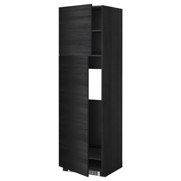 METOD high cabinet for fridge w 2 doors black/Tingsryd black 60.0 cm 61.6 cm 208.0 cm 60.0 cm 200.0 cm