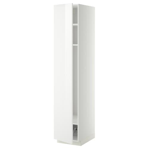 METOD high cabinet w shelves/wire basket white/Ringhult white 40.0 cm 61.8 cm 208.0 cm 60.0 cm 200.0 cm