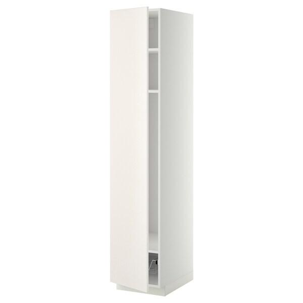 METOD high cabinet w shelves/wire basket white/Veddinge white 40.0 cm 61.6 cm 208.0 cm 60.0 cm 200.0 cm