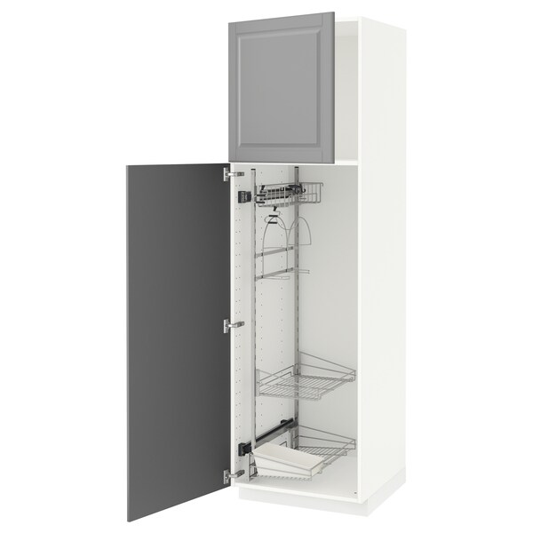 METOD high cabinet with cleaning interior white/Bodbyn grey 60.0 cm 61.9 cm 208.0 cm 60.0 cm 200.0 cm