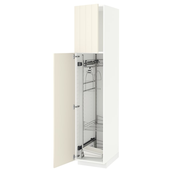 METOD high cabinet with cleaning interior white/Hittarp off-white 40.0 cm 61.8 cm 208.0 cm 60.0 cm 200.0 cm