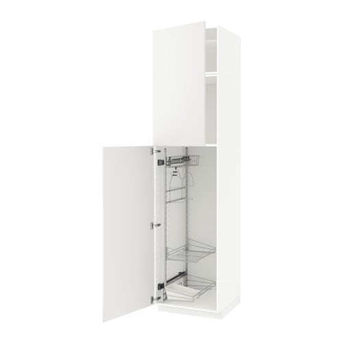 METOD High cabinet with cleaning interior - white, Häggeby ...