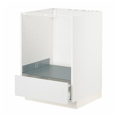 METOD / MAXIMERA Base cabinet for oven with drawer, white/Stensund white, 60x60 cm