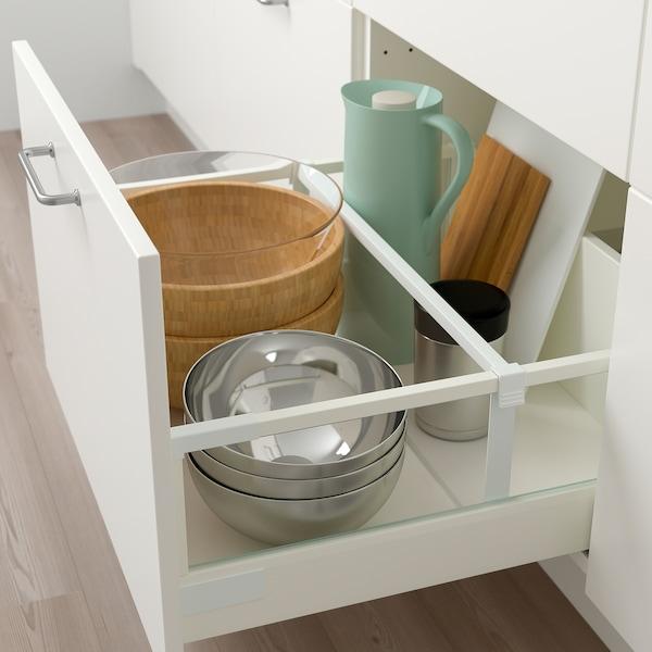 METOD / MAXIMERA Base cabinet with 3 drawers, white/Veddinge white, 60x60 cm