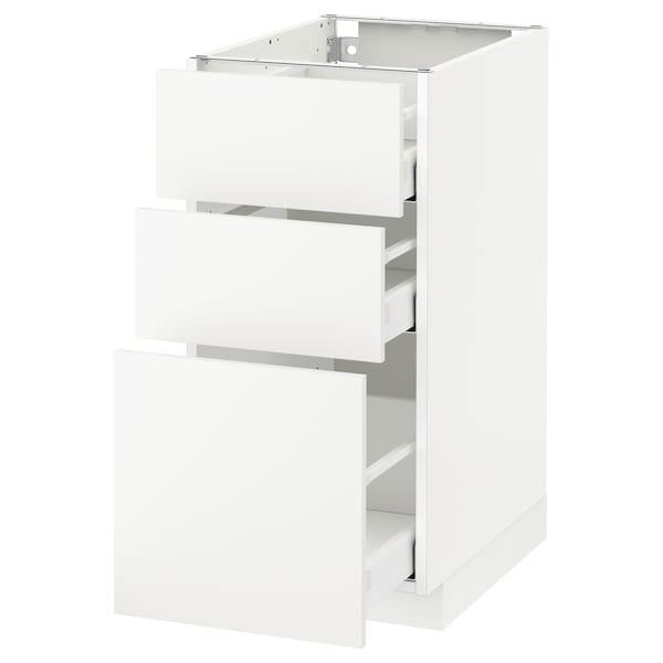 METOD / MAXIMERA base cabinet with 3 drawers white/Häggeby white 40.0 cm 61.6 cm 88.0 cm 60.0 cm 80.0 cm