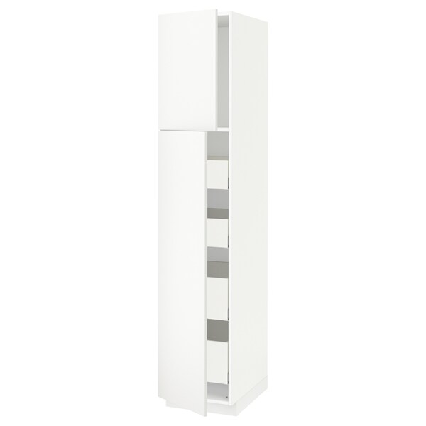 METOD / MAXIMERA hi cab w 2 doors/4 drawers white/Häggeby white 40.0 cm 61.6 cm 208.0 cm 60.0 cm 200.0 cm