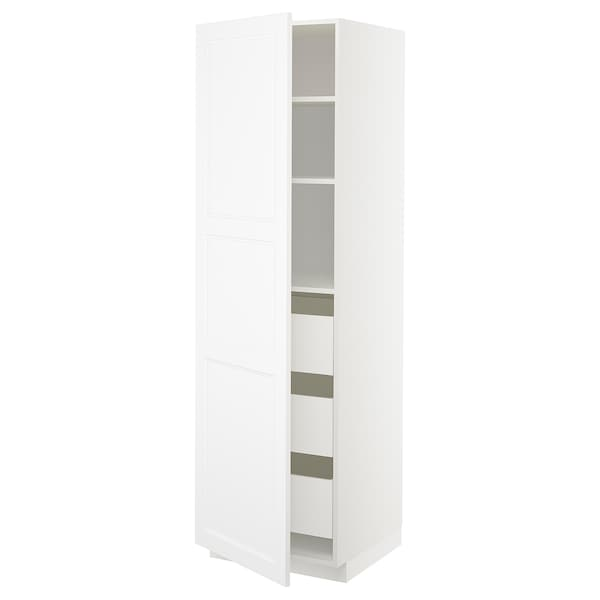 METOD / MAXIMERA high cabinet with drawers white/Axstad matt white 60.0 cm 61.9 cm 208.0 cm 60.0 cm 200.0 cm