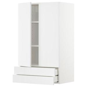 Front: Ringhult high-gloss white.