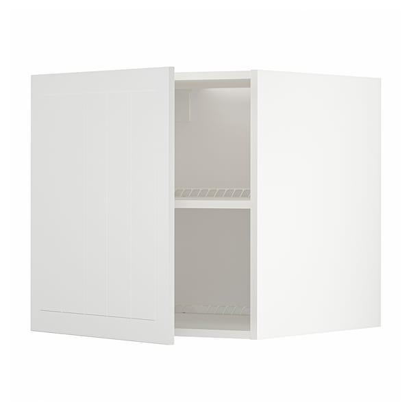 METOD Top cabinet for fridge/freezer, white/Stensund white, 60x60 cm