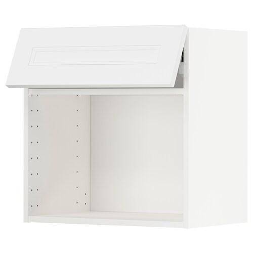 METOD wall cabinet for microwave oven white/Axstad matt white 60.0 cm 38.9 cm 60.0 cm