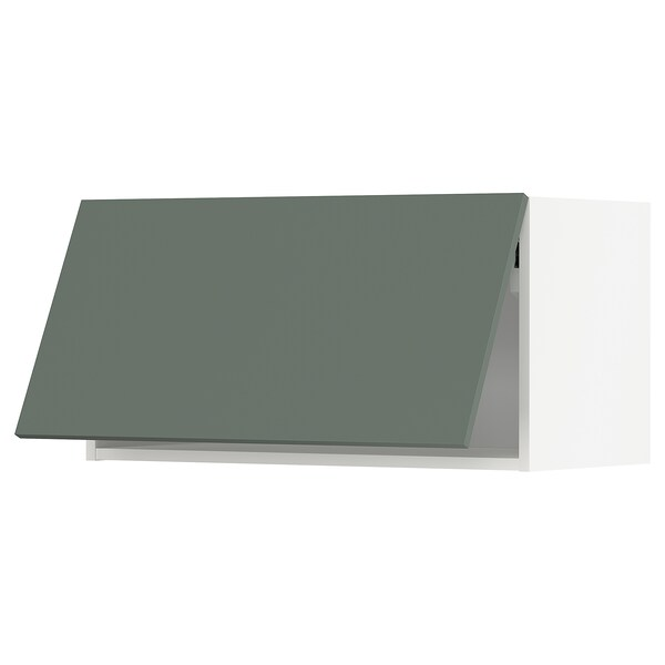 METOD Wall cabinet horizontal, white/Bodarp grey-green, 80x40 cm
