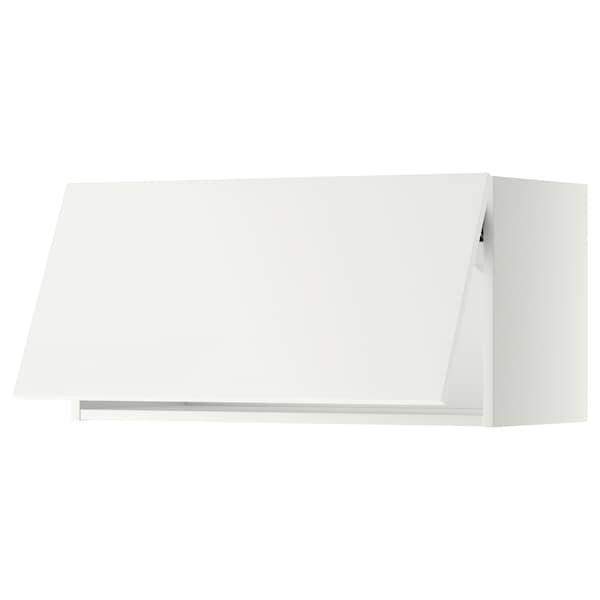 METOD wall cabinet horizontal white/Häggeby white 80.0 cm 38.6 cm 40.0 cm