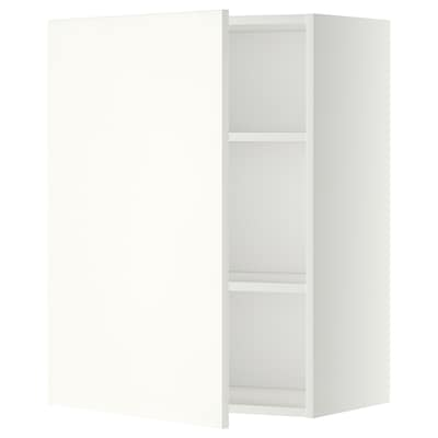METOD Wall cabinet with shelves, white/Häggeby white, 60x80 cm