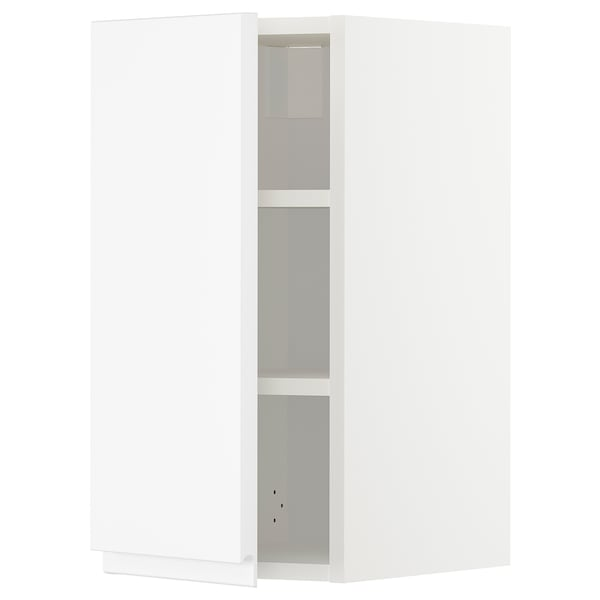 METOD Wall cabinet with shelves, white/Voxtorp matt white, 30x60 cm