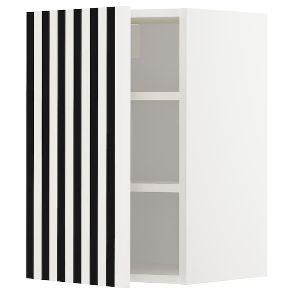 METOD wall cabinet with shelves white/Ytterbyn printed 40.0 cm 38.7 cm 60.0 cm