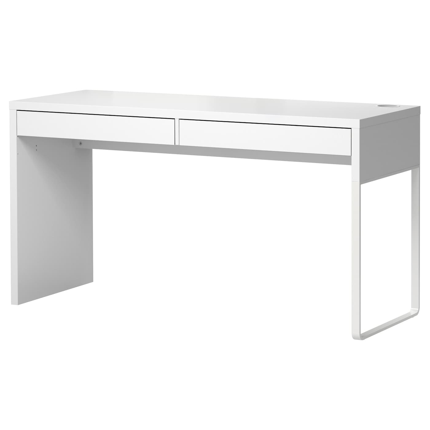 Ikea Micke Desk A Long Table Top Makes It Easy To Create Worke For Two