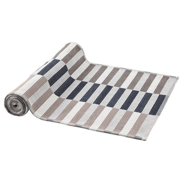 MITTBIT table-runner black beige/white 130 cm 35 cm