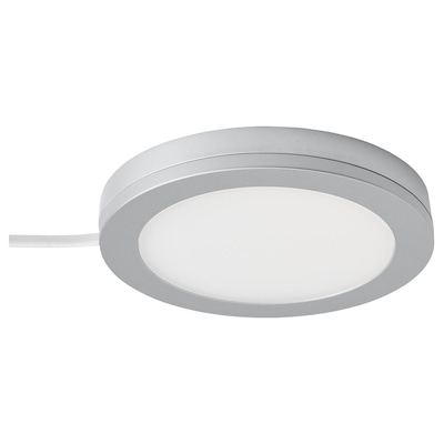 MITTLED LED spotlight, dimmable aluminium-colour