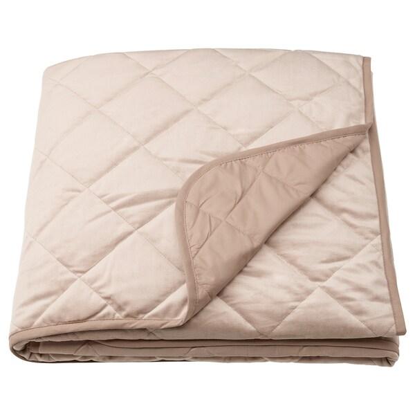 MJUKPLISTER Bedspread, beige, 160x250 cm