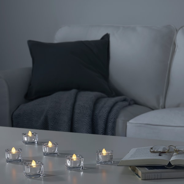 MOGNAD LED tealight, battery-operated/white