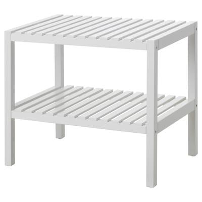 MUSKAN Bench, white, 58x38 cm