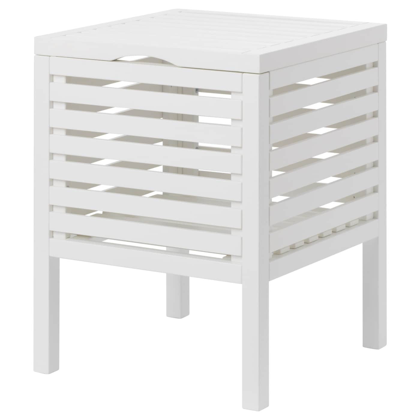 IKEA MUSKAN storage stool Easy to clean since the surface is clear lacquered.