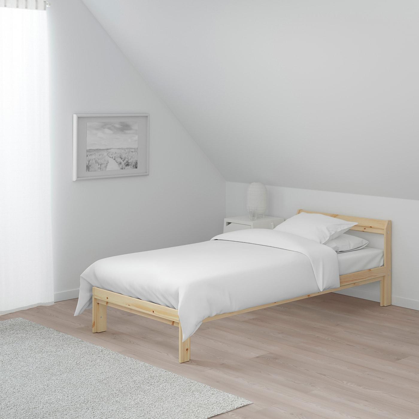 NEIDEN Bed frame pineLuröy 90x200 cm