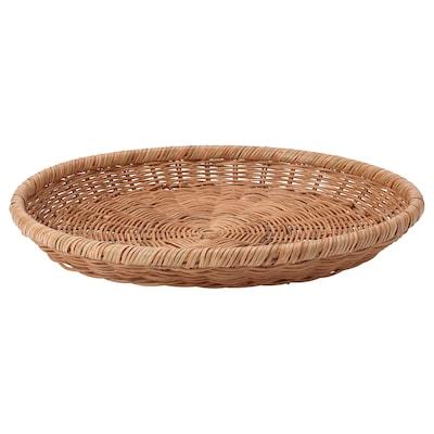 NÖJAKTIG Decoration dish, rattan, 43 cm