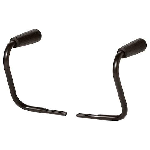 NOMINELL pair of armrests black 23 cm 28 cm 29 cm