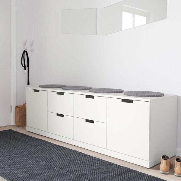 NORDLI Chest of 6 drawers, white, 160x54 cm