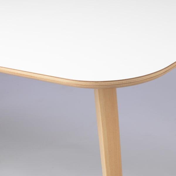 NORDMYRA Table, white/birch, 150x85 cm