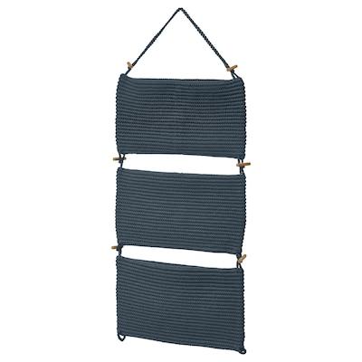 NORDRANA Hanging storage, blue, 35x90 cm