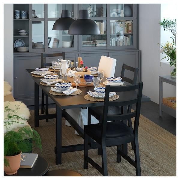 NORDVIKEN Extendable table, black, 152/223x95 cm
