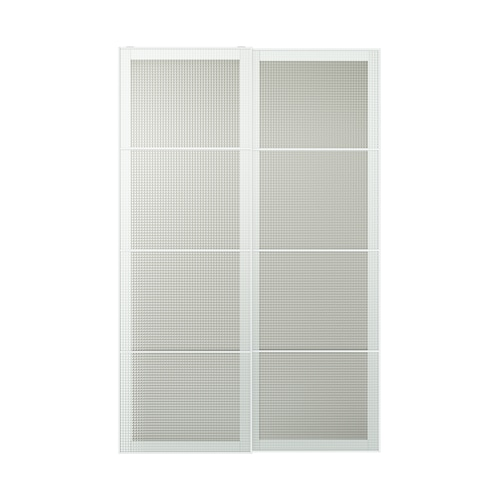 NYKIRKE pair of sliding doors frosted glass, check pattern  150.0 cm 236.0 cm 8.0 cm 2.3 cm