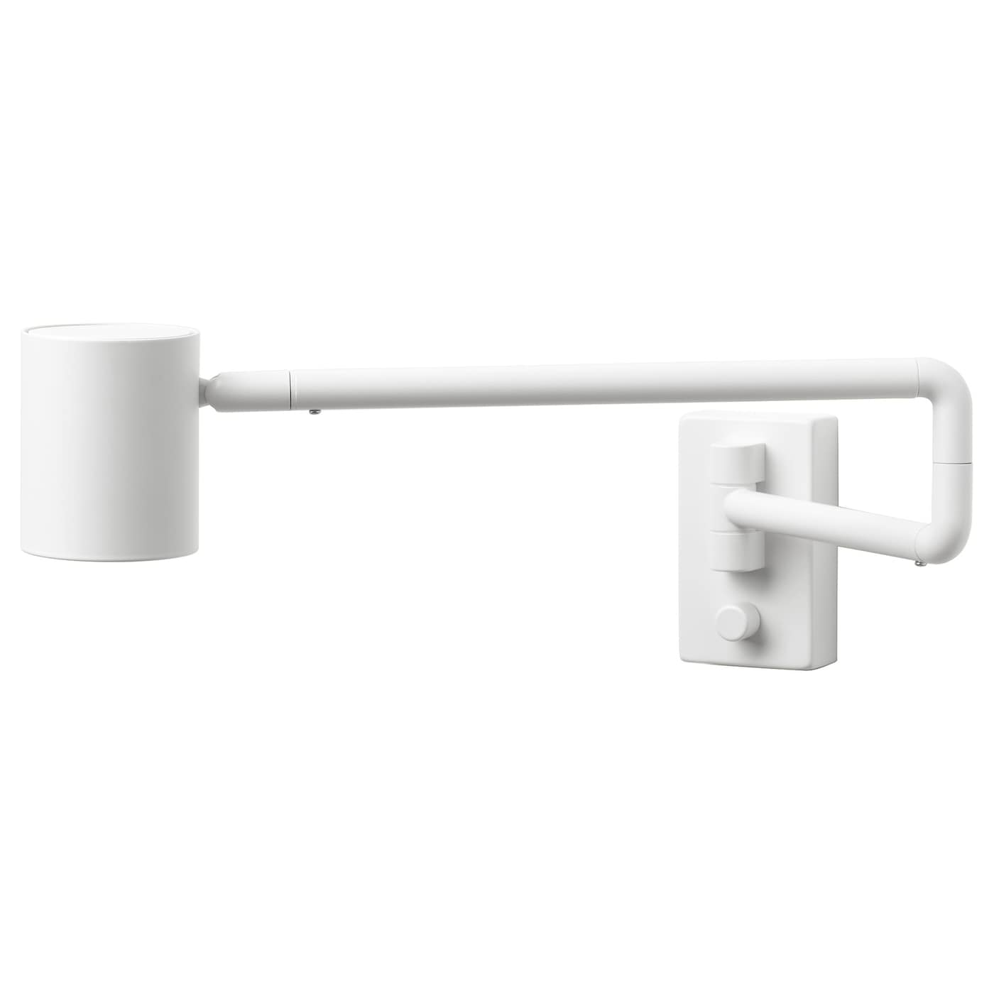 IKEA NYMÅNE wall lamp w swing arm, wired-in Provides directional light, great for reading.